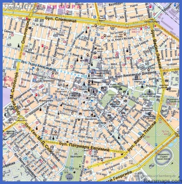 SOFIA MAP ToursMapscom