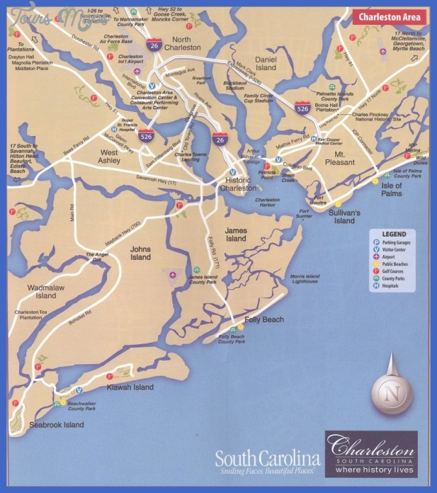 South Carolina Map Tourist Attractions ToursMapsCom – Tourist Attractions Map In South Carolina