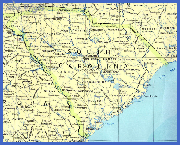 South Carolina and United States Map Links