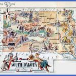 Large tourist illustrated map of the state of South Dakota | Vidiani ...