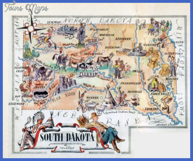 south dakota map tourist attractions 12 South Dakota Map Tourist Attractions