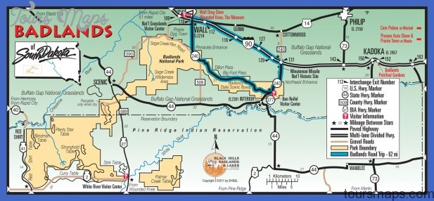 South Dakota Map Tourist Attractions ToursMapscom