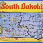 Large tourist illustrated map of South Dakota state | Vidiani.com ...