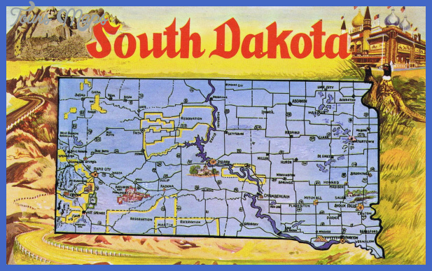 south dakota map tourist attractions 7 South Dakota Map Tourist Attractions