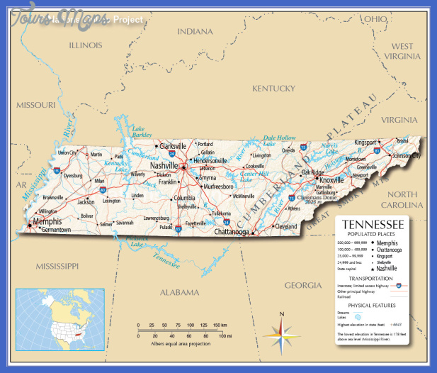 Tennessee Map Usa