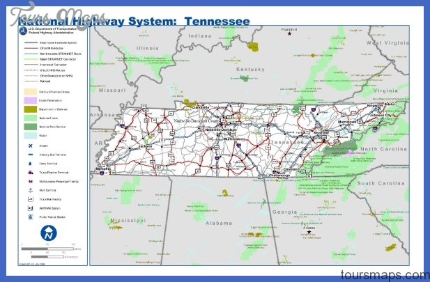 tennessee road map Archives - ToursMaps.com ®