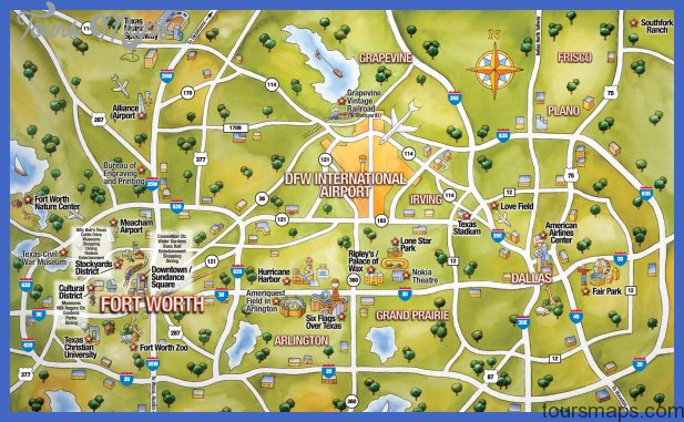 Texas Map Tourist Attractions ToursMapsCom – Dallas Texas Tourist Attractions Map