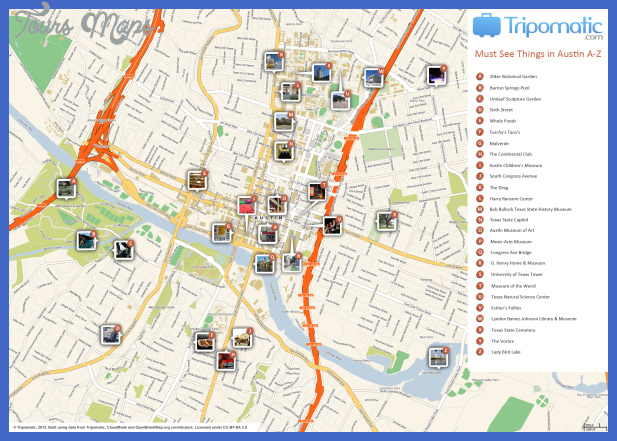 Map of Austin Attractions | Tripomatic