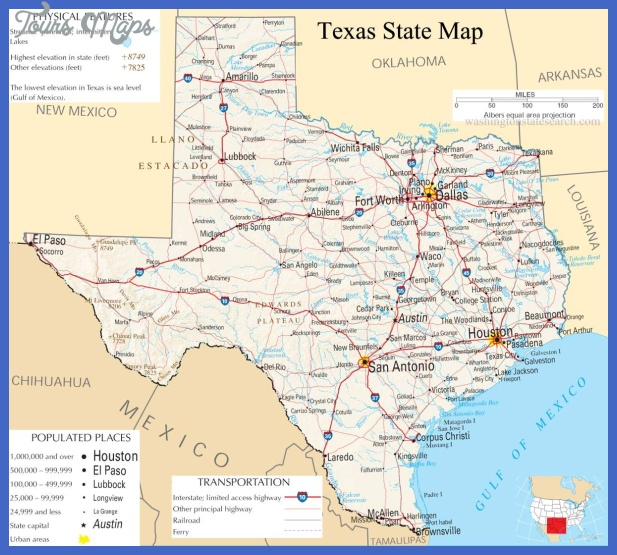 Texas  Map  Travel  Holiday  Vacations