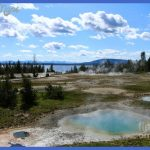 Beautiful Morning At West Thumb Geyser Basin And Yellowstone Lake by ...