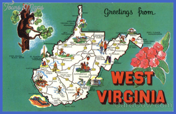 West Virginia Tourist Map Scenic Maps