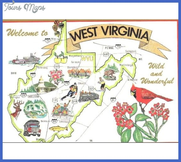 West Virginia Map Tourist Attractions ToursMapsCom – Tourist Attractions Map In West Virginia