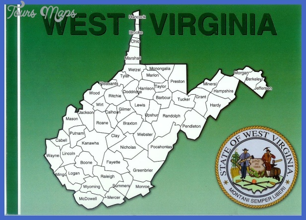 west virginia map the great seal of west virginia
