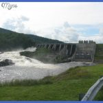 Photograph of the Wyman Dam, which is located on the Kennebec River ...
