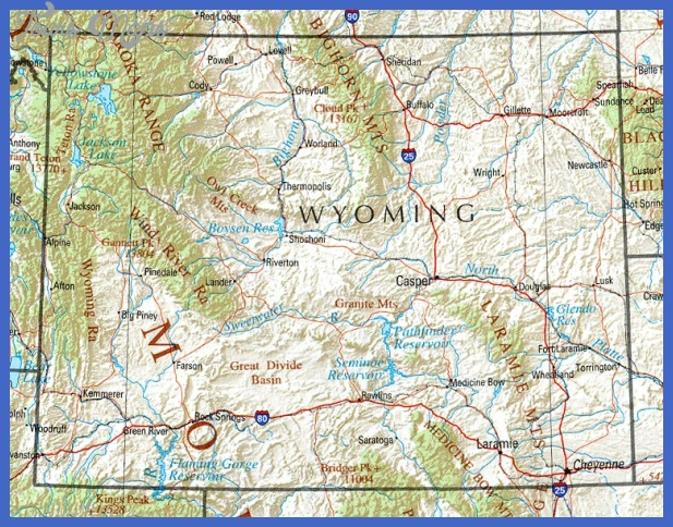 wyoming map 0 Wyoming Map