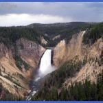 The upper falls of Yellowstone.