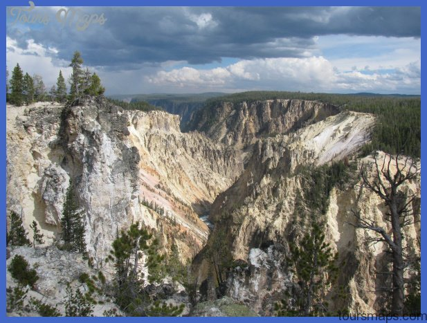 The Grand Canyon of the Yellowstone River is the scenic highlight.