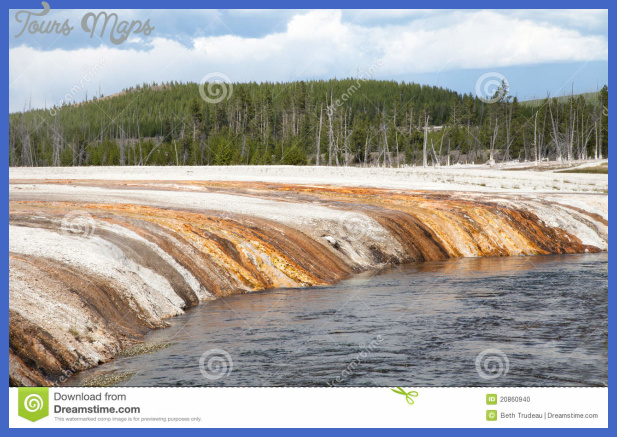 ... scene from the Black Sand Basin in Yellowstone National Park, Wyoming
