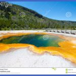 Emerald Pool In The Black Sand Basin, Yellowstone Stock Image - Image ...