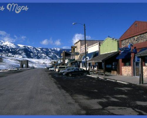Downtown Gardiner Montana1999