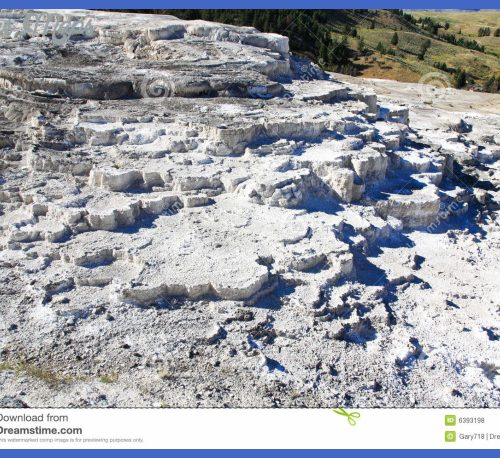 The Mammoth Hot Spring Area In Yellowstone Royalty Free Stock Photos ...