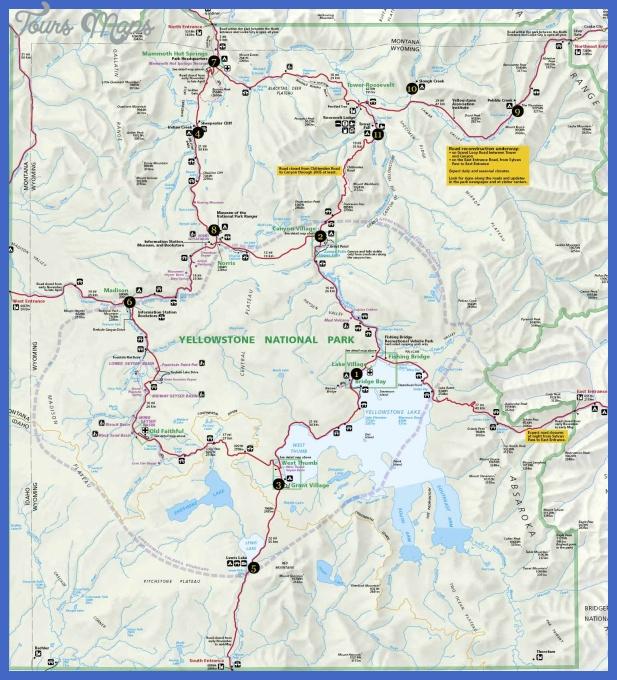 yellowstone map 1 Yellowstone Map