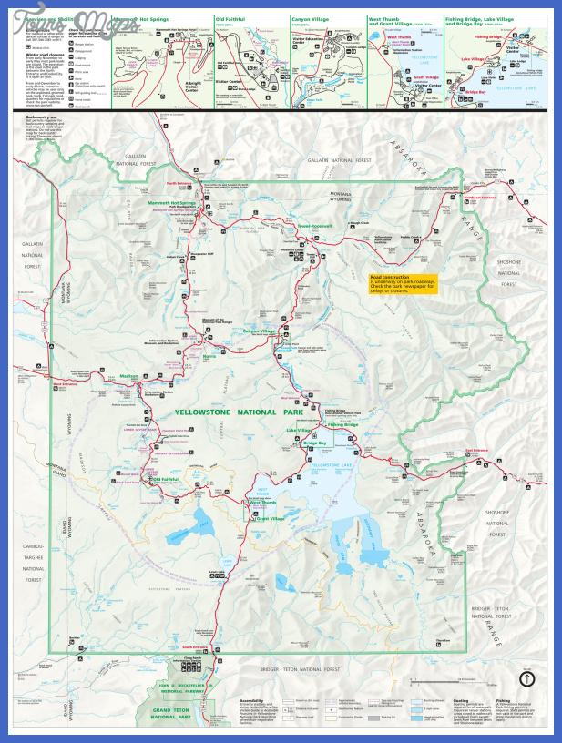 yellowstone map 5 Yellowstone Map