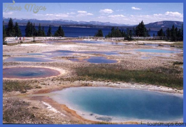 West Thumb Geothermal Area. That's Yellowstone Lakein the background.