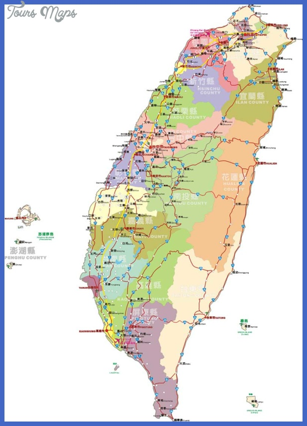 Taichung Map Tourist Attractions ToursMapsCom – Montreal Tourist Attractions Map
