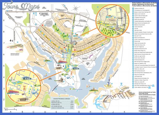 Brasilia Metro Map ToursMapscom