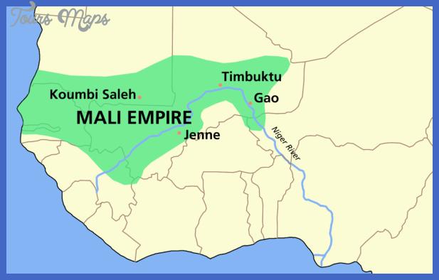 1024px mali empire map png Mali Map