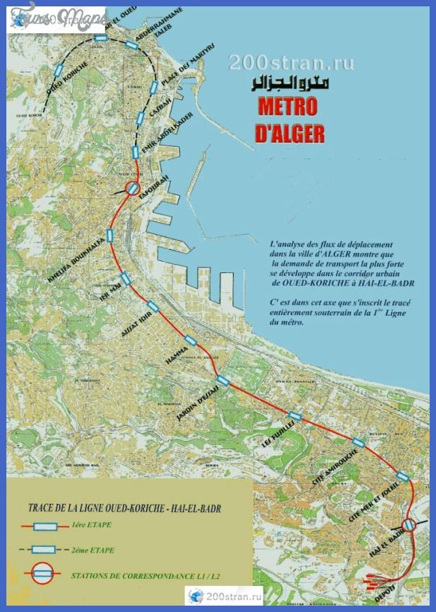 Схема метро Алжира | Metro map of Algeria