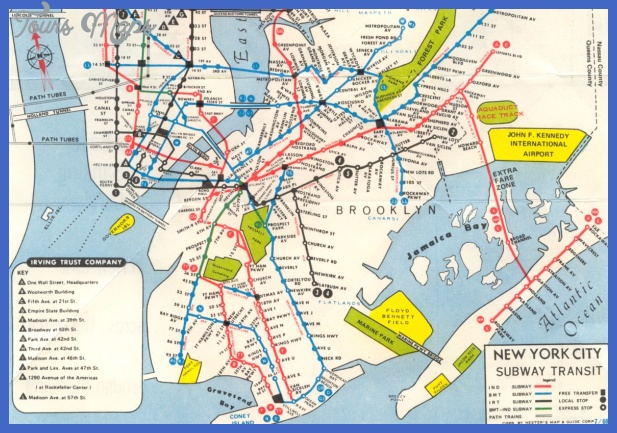 1968 irving trust map Irving Subway Map