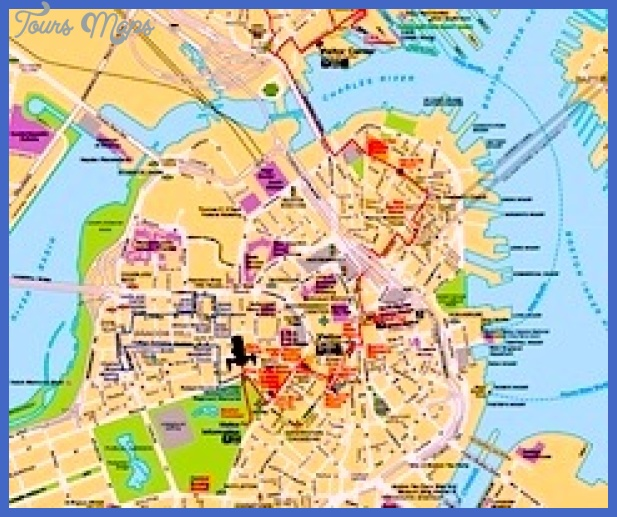 240 boston map nps Boston Map Tourist Attractions