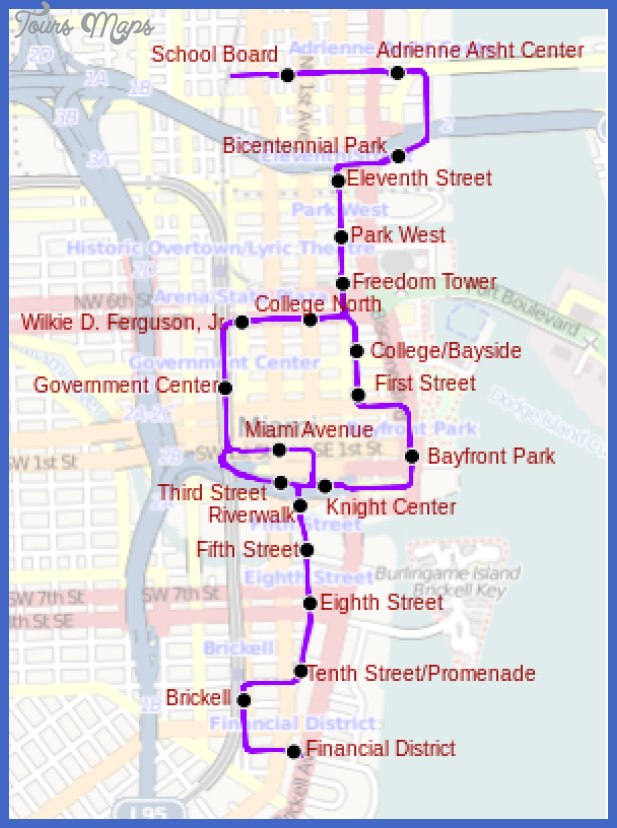 295px metromover miami svg Miami Metro Map