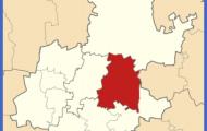 Mapa de la província de Gauteng , mostrant l' East Rand .