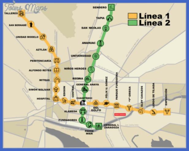 400px metrorrey map Laredo Subway Map