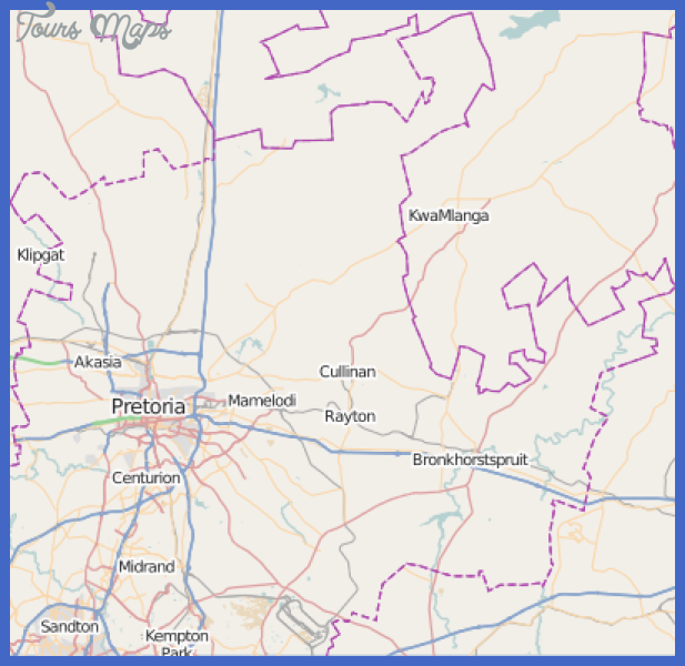 Pretoria Metro Map ToursMapscom
