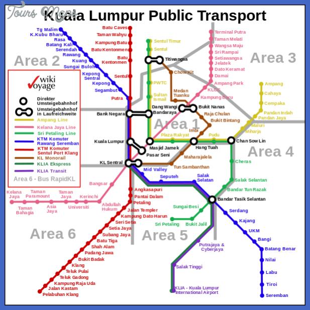 Kuala Lumpur Subway Map ToursMapscom