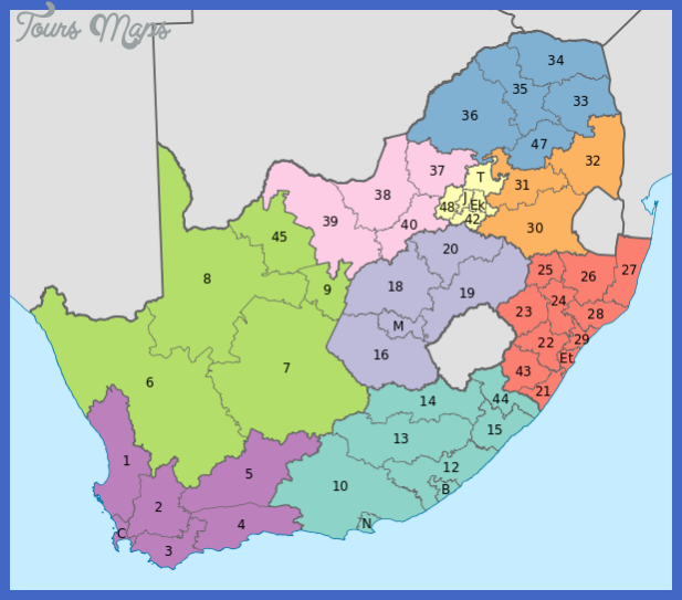 600px map of south africa with provinces shaded and districts numbered 28201129 svg 1 Mozambique Map