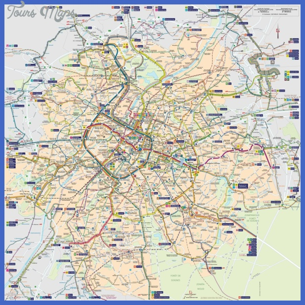 Brussels Metro System Map - Maps - Maplets