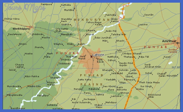 a lahore Lahore Map Tourist Attractions