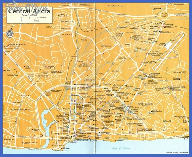 accra map tourist attractions  1 Accra Map Tourist Attractions