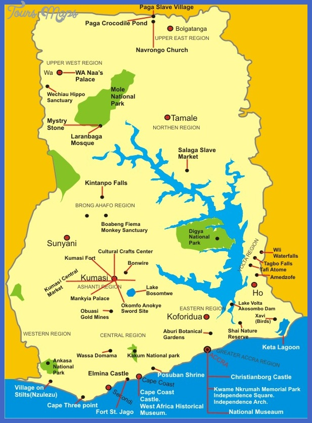 accra map tourist attractions  2 Accra Map Tourist Attractions