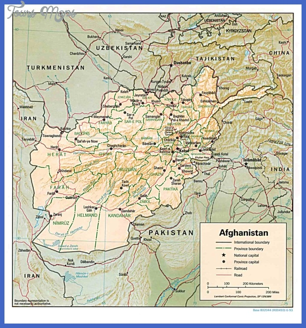 afghanistan Afghanistan Map Tourist Attractions