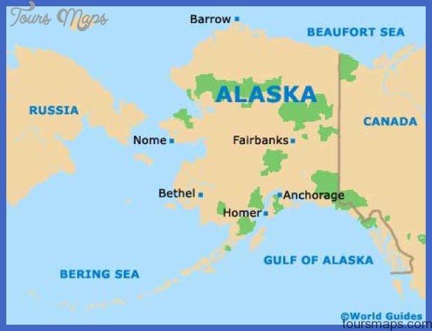 alaska ak state map Anchorage municipality Map Tourist Attractions