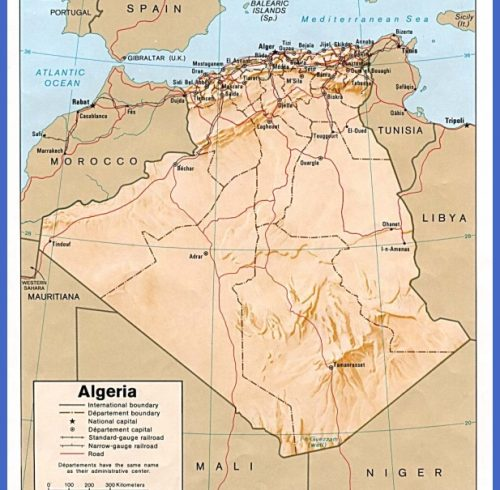 the history of algeria map