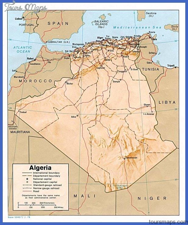 the history of algeria map