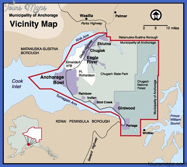 anchorage municipality map 1 Anchorage municipality Map