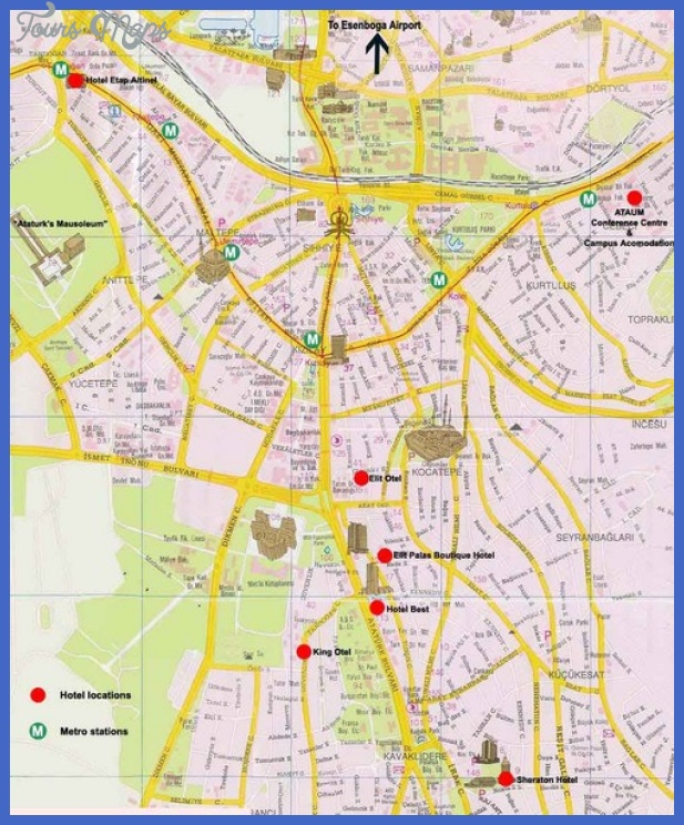 ankara city map mediumthumb Ankara Map Tourist Attractions